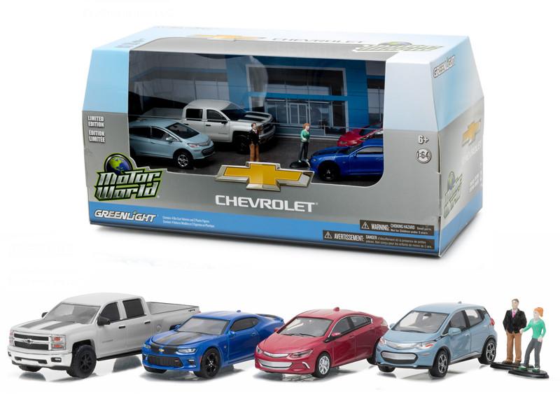 Motor World Diorama Set Modern Chevrolet Dealership 6pc for sale