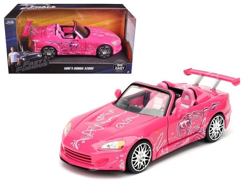 Suki's 2001 Honda S2000 Pink Fast & Furious Movie 1/24 Diecast Model Car Jada 97604