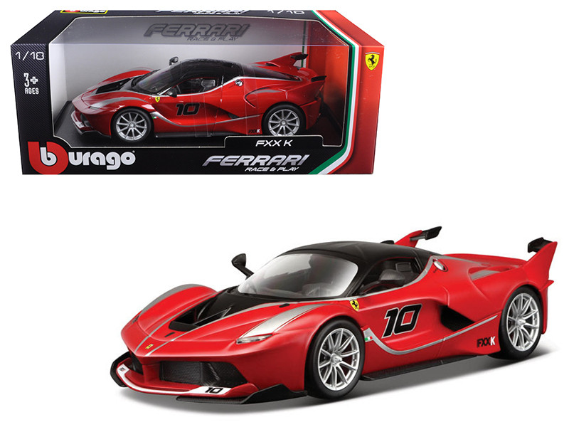 Ferrari FXX-K #10 Red 1/18 Diecast Model Car Bburago 16010