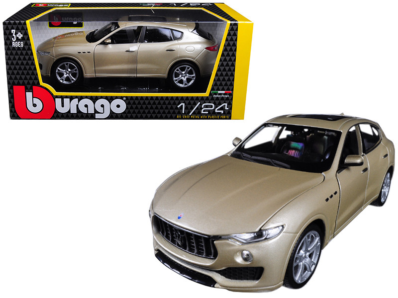 Maserati Levante Gold 1/24 Diecast Model Car Bburago 21081