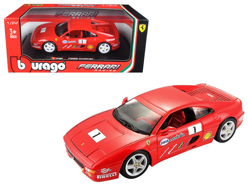Ferrari F355 Challenge Red 1/24 Diecast Model Car Bburago 26306