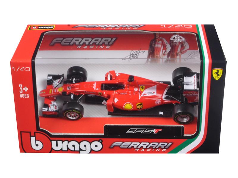2015 Ferrari Racing Formula 1 SF15 F1 Sebastian Vettel #5 1/43 Diecast Model Car Bburago 36802 SV