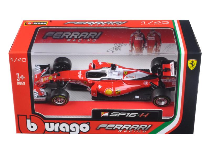 2016 Ferrari Racing Formula 1 SF16 Kimi Raikkonen #7 1/43 Diecast Model Car Bburago 36803 KR
