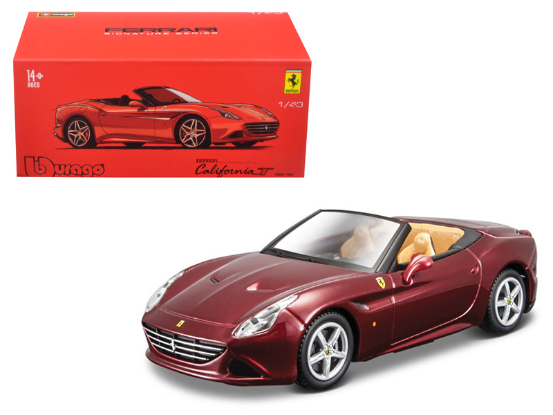 Ferrari California T Dark Red Open Top Signature Series 1/43 Diecast Model Car Bburago 36903