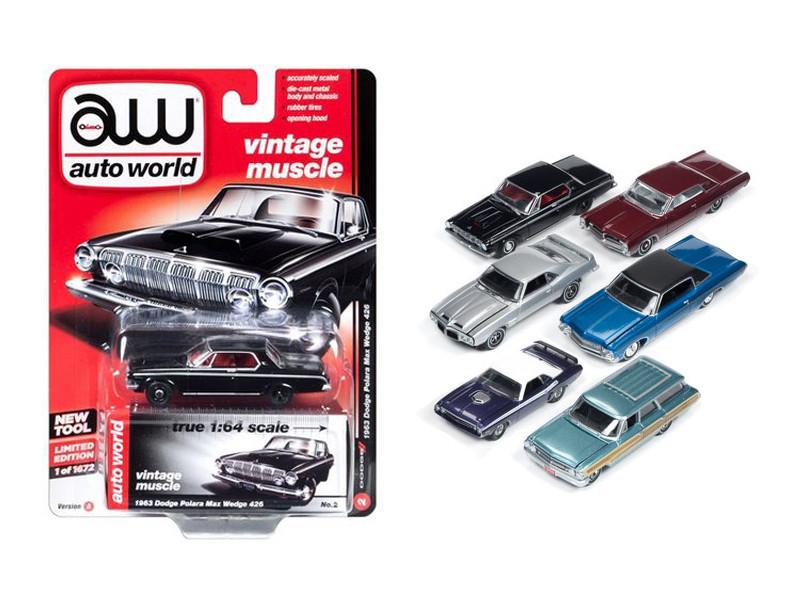 Autoworld Premium 2017 Release 1A Set Of 6 Cars 1/64 Diecast Model Cars Autoworld 64052 A