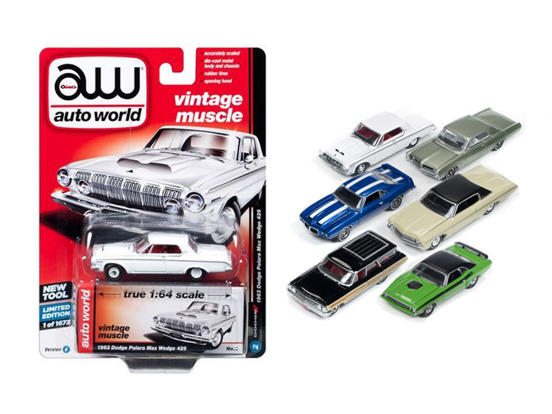 Autoworld Premium 2017 Release 1B Set Of 6 Cars 1/64 Diecast Model Cars Autoworld 64052 B