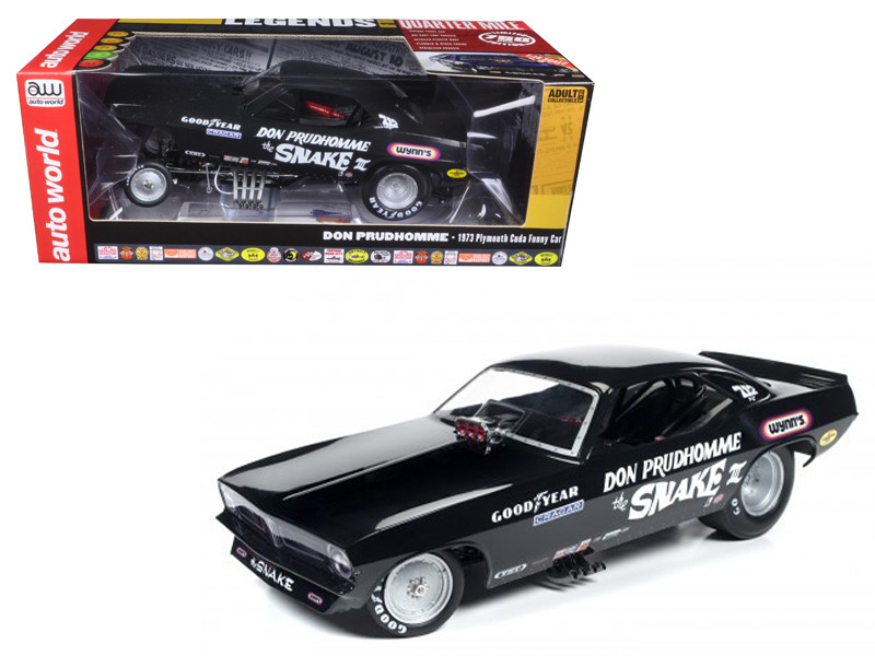 Don Prudhomme The Snake III 1973 Plymouth Cuda Funny Car Limited Edition to 750 pcs 1/18 Model Car Autoworld AW1177
