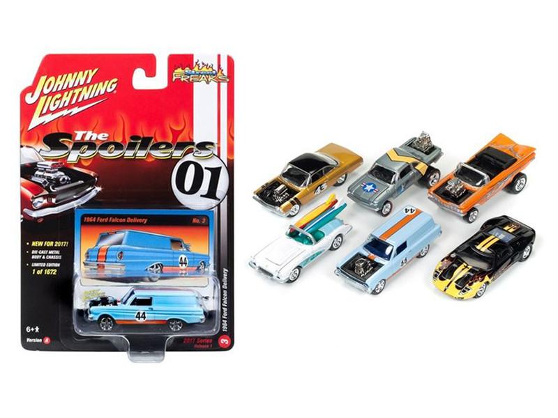 Street Freaks 2017 Release 1A Set of 6 Cars 1/64 Diecast Model Cars Johnny Lightning JLSF003 A