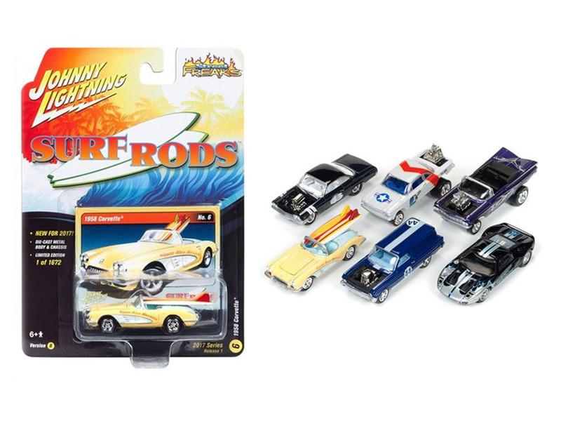 Street Freaks 2017 Release 1B Set of 6 Cars 1/64 Diecast Model Cars Johnny Lightning JLSF003 B