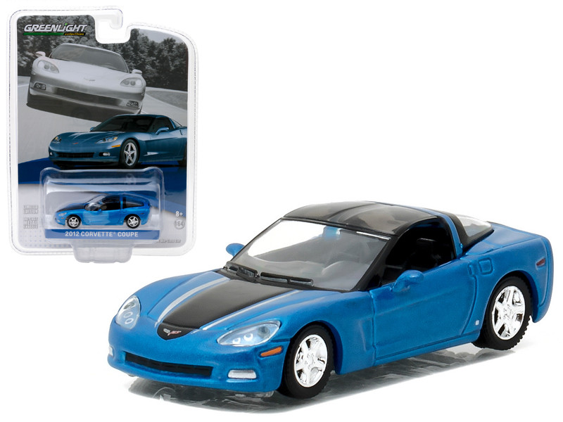 2012 Chevrolet Corvette C6 Supersonic Blue General Motors Collection Series 1 1/64 Diecast Model Car Greenlight 27870 B