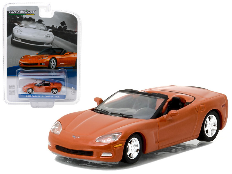 2012 Chevrolet Corvette Convertible Inferno Orange General Motors Collection Series 1 1/64 Diecast Model Car Greenlight 27870 C