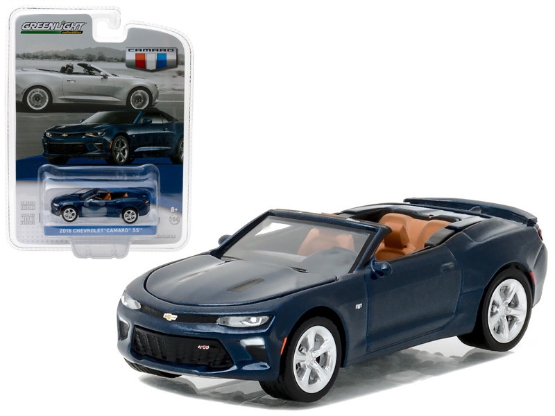 2016 Chevrolet Camaro SS Convertible Blue Velvet General Motors Collection Series 1 1/64 Diecast Model Car Greenlight 27870 F
