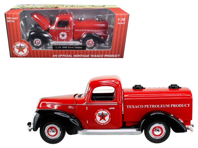 1940 Ford Tanker Texaco Red 1/18 Diecast Model Car Beyond Infinity 0605