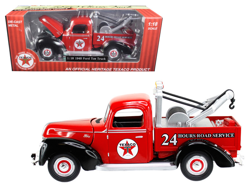1940 Ford Tow Truck Texaco Red 1/18 Diecast Model Car Beyond Infinity 0607