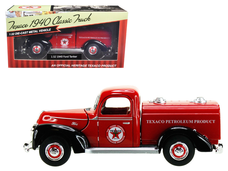 1940 Ford Tanker Texaco Red 1/32 Diecast Model Car Beyond Infinity 0610