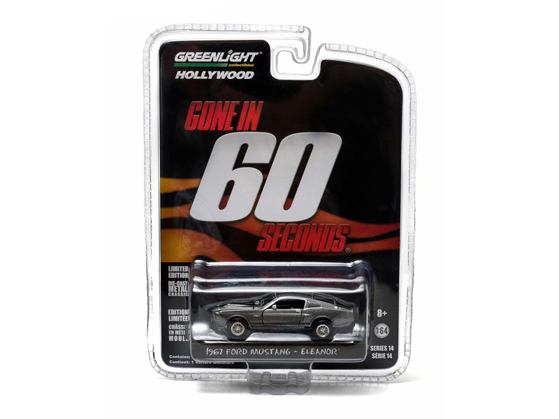 1967 Ford Mustang Custom Eleanor Gone in 60 Seconds Movie 2000 1/64 Diecast Car Model Greenlight 44742
