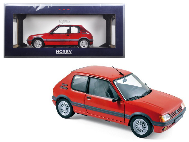 1988 Peugeot 205 Gti 1.6 Vallelunga Red 1/18 Diecast Model Car Norev 184853
