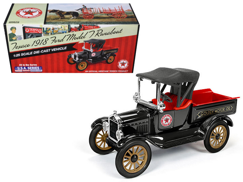 """1918 Ford Model T Runabout \Texaco\"""" 2nd in the USA Series 1/25 Diecast Model Car by Autoworld"""""""""""""""