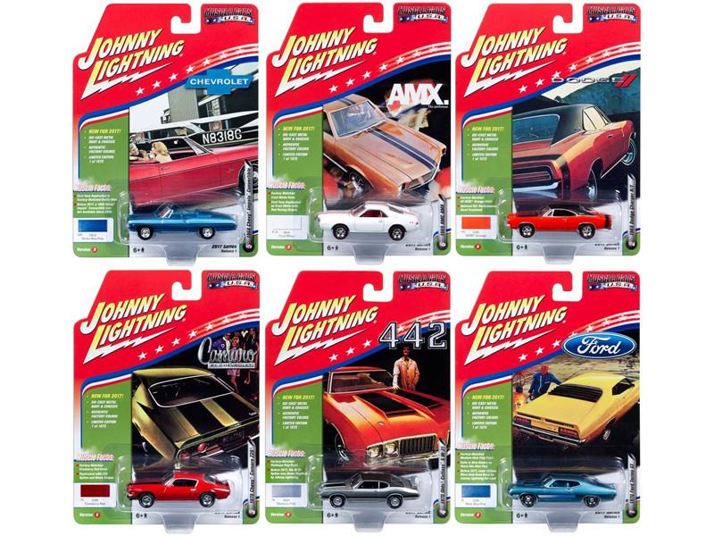 Muscle Cars USA 2017 Set of 6 cars Release B 1/64 Diecast Model Car Johnny Lightning JLMC003 B