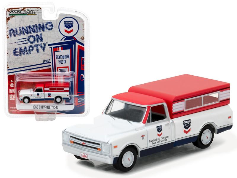 1968 Chevrolet C-10 Standard Oil Pickup Truck 1/64 Diecast Model Car Greenlight 41010 D