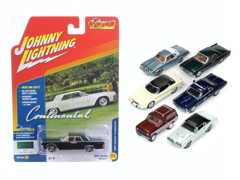 Classic Gold 2017 Set of 6 cars Release B 1/64 Diecast Model Car Johnny Lightning JLCG003 B