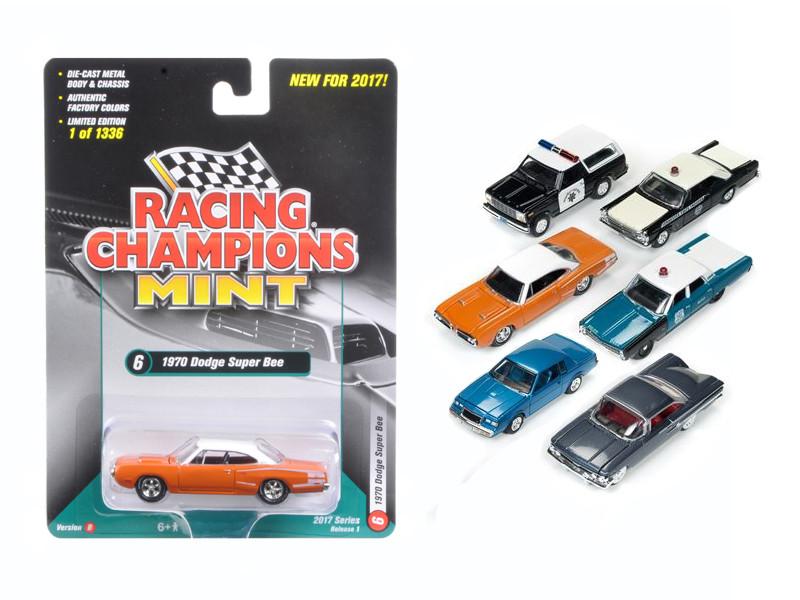 Mint Release 2017 Set B Set of 6 cars 1/64 Diecast Model Cars Racing Champions RC003 B