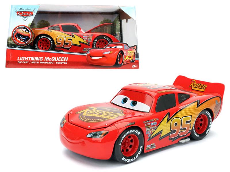 Disney Pixar Cars Movie Lightning McQueen Diecast Model Car Jada 98099