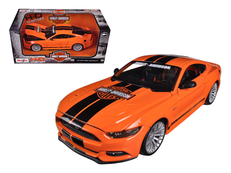 2015 Ford Mustang Harley Davidson Orange 1/24 Diecast Car Model Maisto 32188