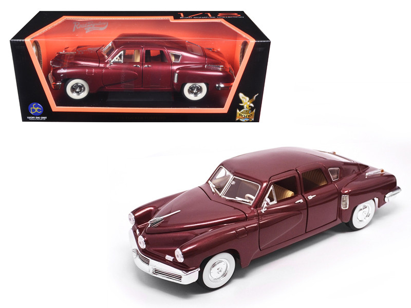 1948 Tucker Torpedo Burgundy 1/18 Diecast Model Car Road Signature 92268