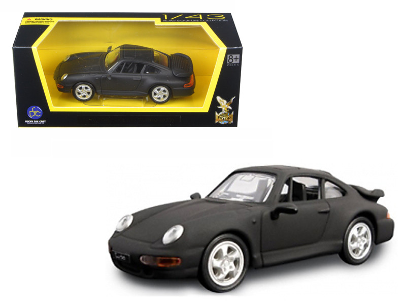 1996 Porsche 911 Turbo Matt Black 1/43 Diecast Model Car Road Signature 94219