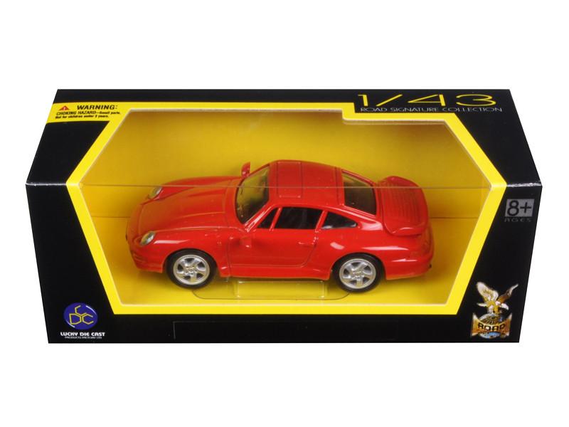 1996 Porsche 911 Turbo Red 1/43 Diecast Model Car Road Signature 94219