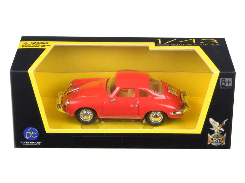 1956 Porsche 356 B/C Red 1/43 Diecast Model Car by Road Signature
