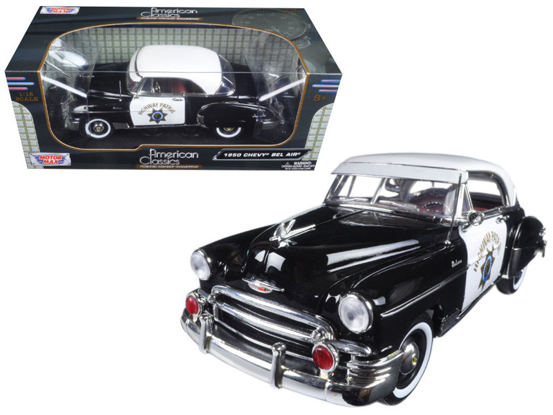 1950 Chevrolet Bel Air California Highway Patrol CHP 1/18 Diecast Model Car Motormax 79007