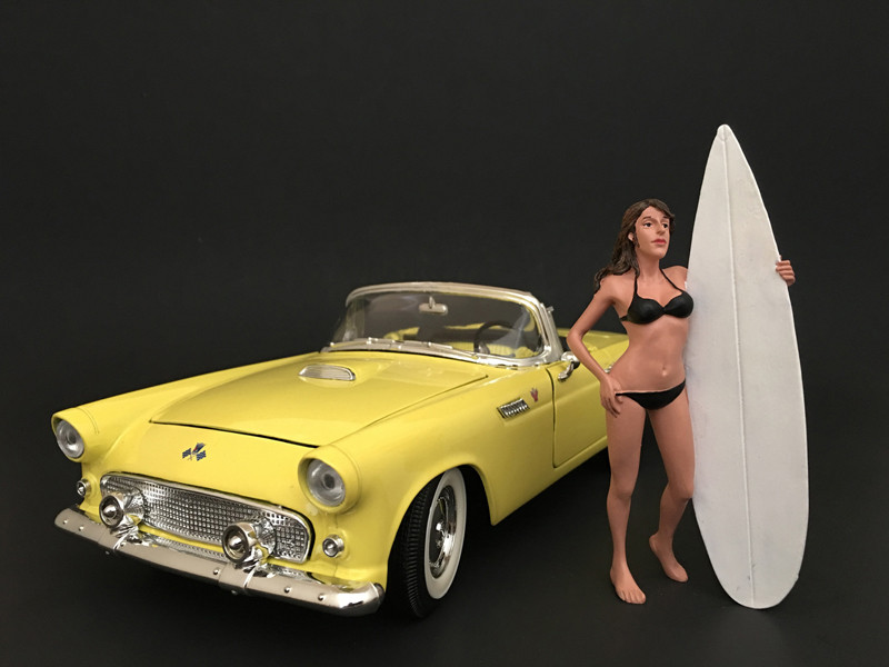 Surfer Casey Figure For 1:18 Scale Models American Diorama 77439