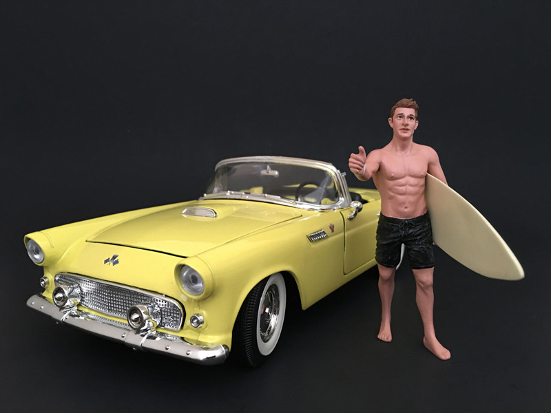 Surfer Jay Figure For 1:18 Scale Models American Diorama 77442