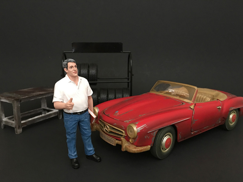 Mechanic Manager Tim Figure For 1:18 Scale Models American Diorama 77443
