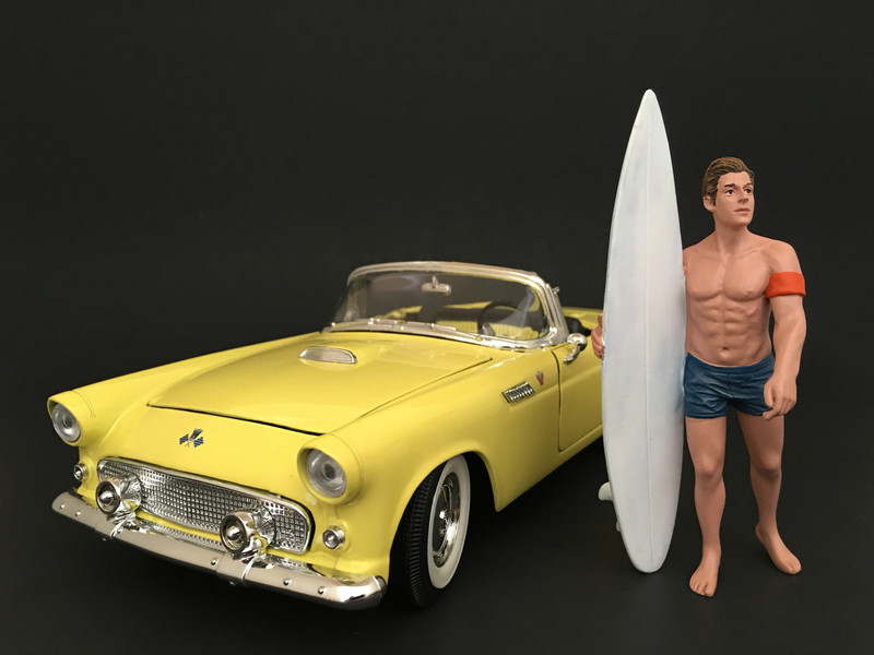 Surfer Greg Figure For 1:24 Scale Models American Diorama 77491