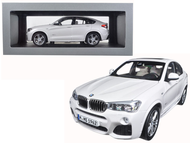 BMW X4 F26 Mineral White 1/18 Diecast Model Car Paragon 97093