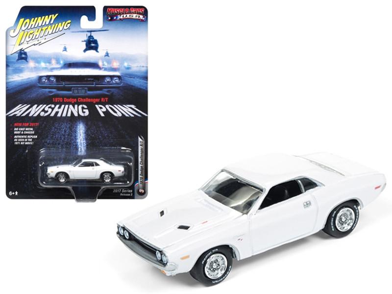 1970 Dodge Challenger R/T Vanishing Point Movie 1/64 Diecast Model Car Johnny Lightning JLCP6001
