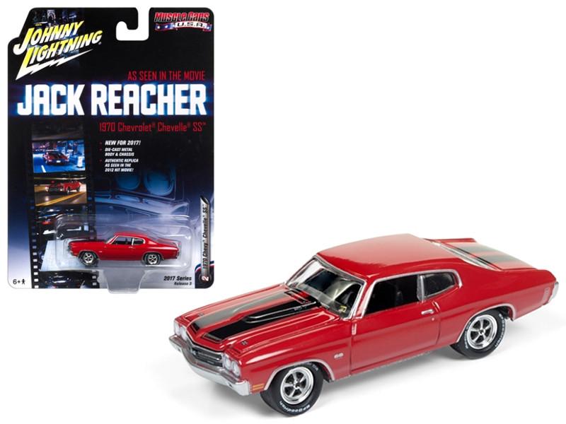 1970 Chevrolet Chevelle SS Jack Reacher Movie 1/64 Diecast Model Car Johnny Lightning JLCP6002