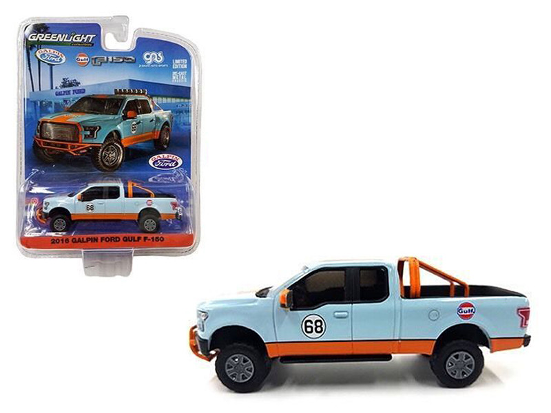 2016 Galpin Ford F-150 Gulf Pickup Truck 1/64 Diecast Model Car Greenlight 51088