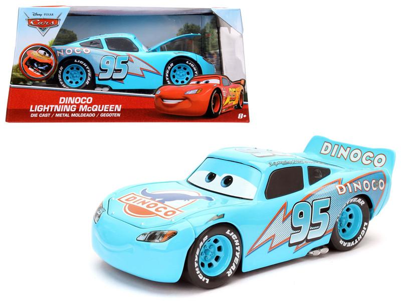 Disney Pixar Cars Movie Dinoco Lightning McQueen Diecast Model Car Jada 98100