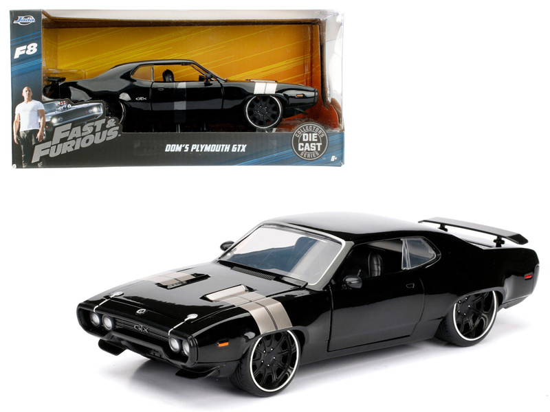Dom's Plymouth GTX Fast & Furious F8 The Fate of the Furious Movie 1/24 Diecast Model Car Jada 98292