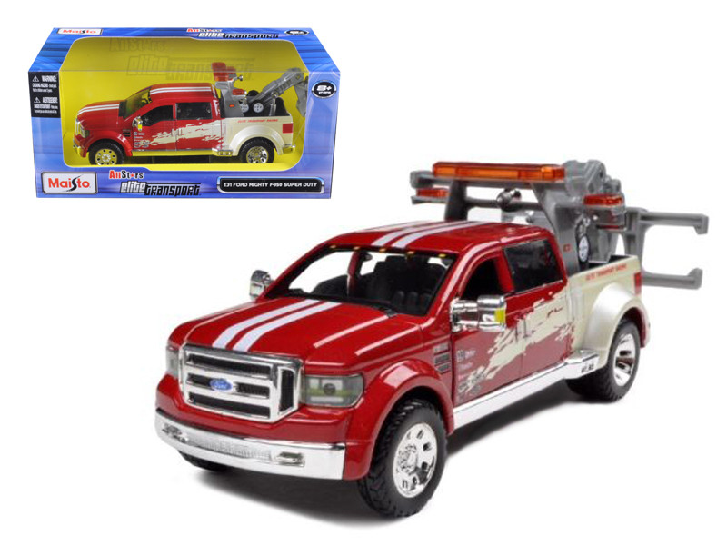 Ford Mighty F-350 Super Duty Tow Truck Red 1/31 Diecast Model Maisto 32994
