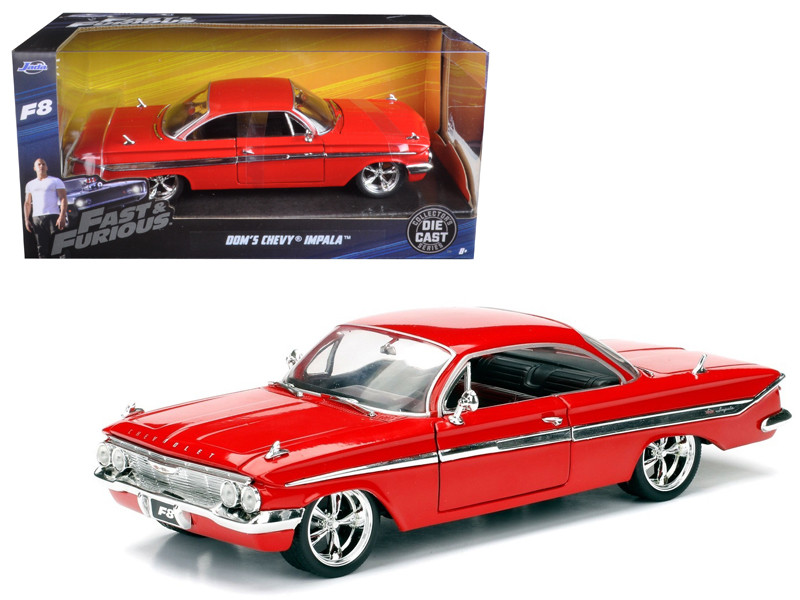 Dom's Chevrolet Impala Red Fast & Furious F8 The Fate of the Furious Movie 1/24 Diecast Model Car Jada 98426