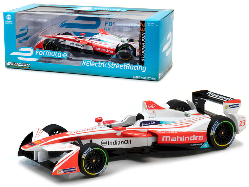 2016-17 FIA Formula E Spark SRT_01E #23 Nick Heidfeld Mahindra Racing 1/18 Diecast Model Car Greenlight 18103