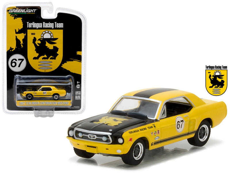 1967 Ford Terlingua Continuation Mustang #67 Jerry Titus & Ken Miles Racing Tribute Edition Hobby Exclusive 1/64 Diecast Model Car Greenlight 29876