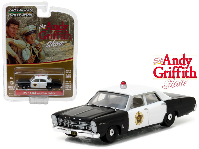 1967 Ford Custom Police The Andy Griffith Show TV Series 1960-68 1/64 Diecast Model Car Greenlight 44760 B