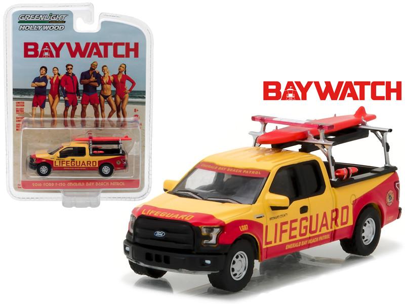 2016 Ford F-150 Emerald Bay Beach Patrol Baywatch Movie 2017 1/64 Diecast Model Car Greenlight 44760 F