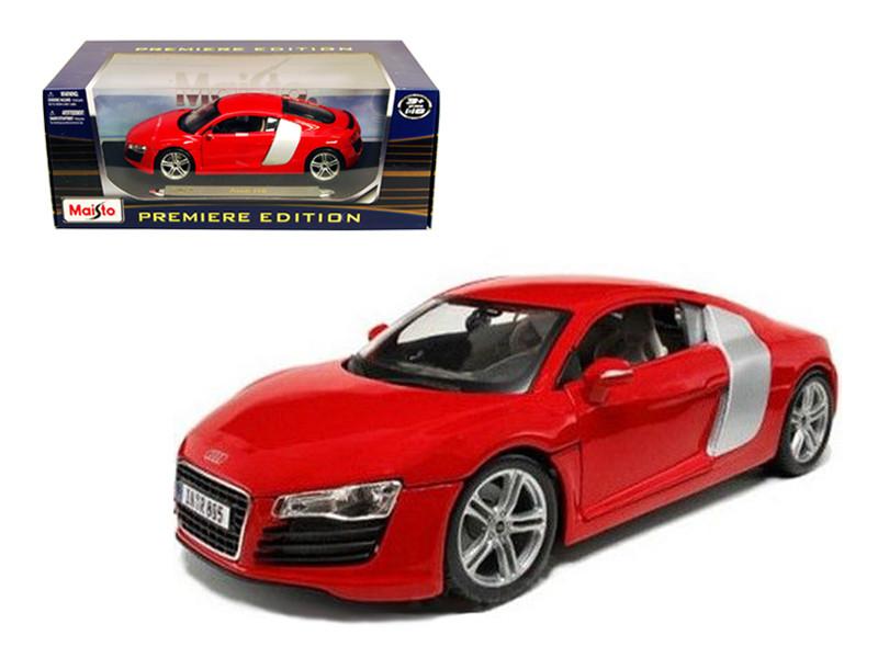Audi R8 Red 1/18 Diecast Model Car Maisto 36143